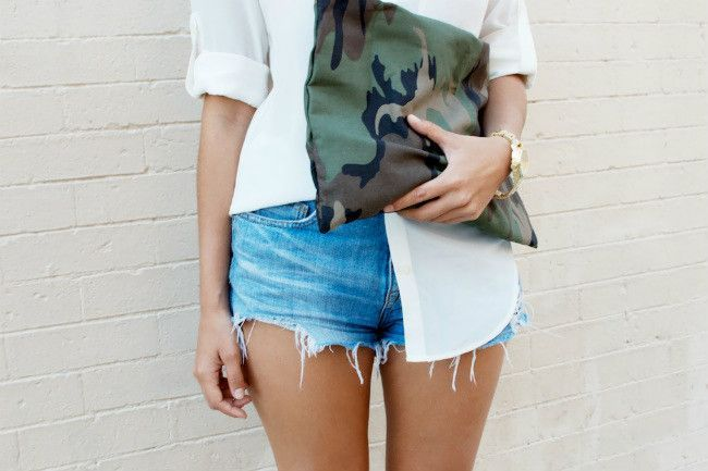 DIY cut-off denim shorts