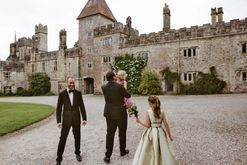 Inside a fashion-filled wedding set in an Irish castle