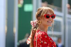 Forget the scrunchie, the hair scarf is your go-to summer accessory