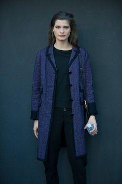 Model street style at Milan fashion week spring/summer '16