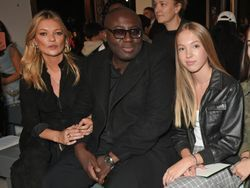 Kate Moss and daughter, Lila Grace sit front row together at London Fashion Week