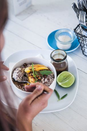 How to make the coconut quinoa bircher from Ruby's Diner