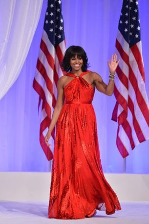 Michelle Obama wears Jason Wu