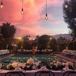 Inside a fashion publisher's pretty Palm Springs wedding