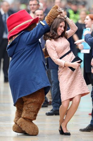 Kate Middleton makes a surprise appearance in London, dances with Paddington Bear