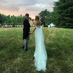 Inside a woodland New Hampshire wedding