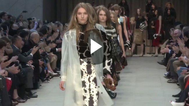 Watch: Christopher Bailey talks fetish fabrics at Burberry Prorsum