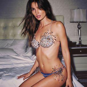Lily Aldridge is wearing the 2015 Victoria's Secret fantasy bra