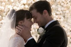 This is who designed Anastasia's wedding dress for the new Fifty Shades Freed movie