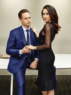 Patrick J Adams and Meghan Markle will both depart Suits at the end of season seven