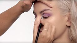 How to recreate Candice Swanepoel's purple smoky eye
