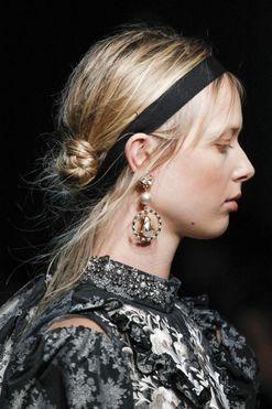 Overstated: The statement earring made a huge comeback at the spring/summer '17 shows