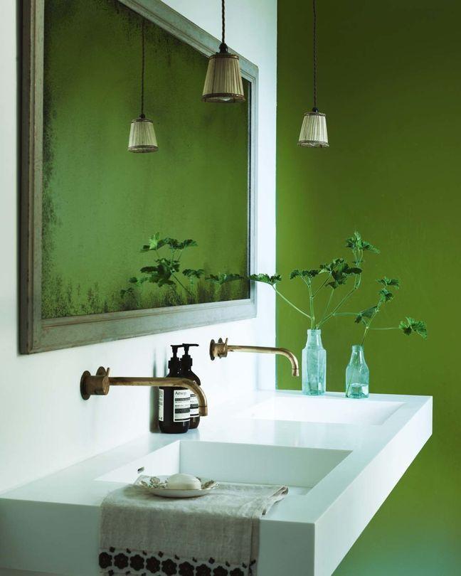 Salle de bain greenery