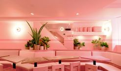 Look inside an entirely pink restaurant in New York City