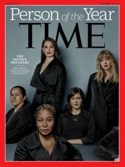 Time Magazine's Person of the Year is actually the leaders of the Me Too movements