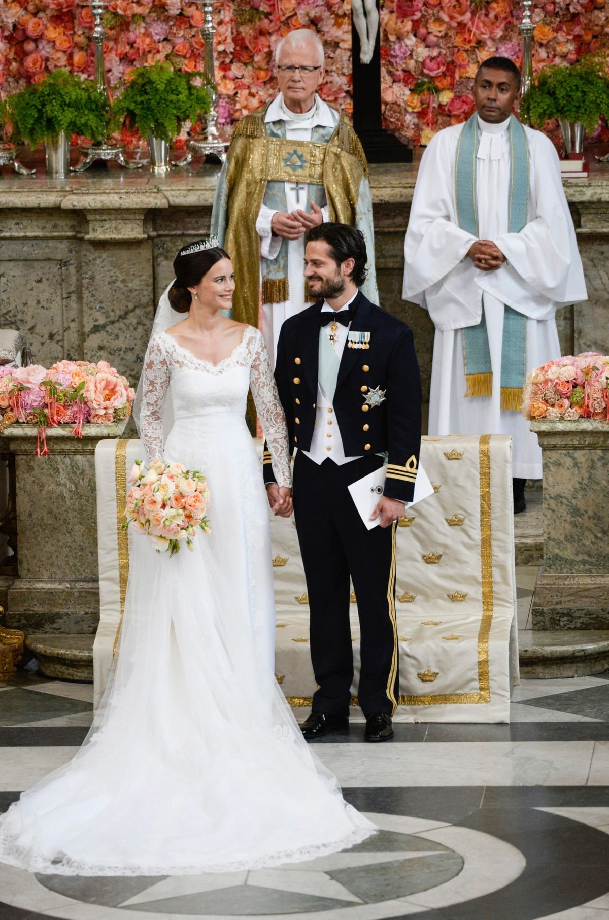 Inside the Swedish royal wedding: the couture dress