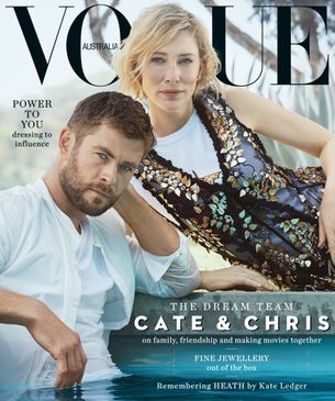 First look: Cate Blanchett and Chris Hemsworth cover Vogue Australia's November 2017 issue