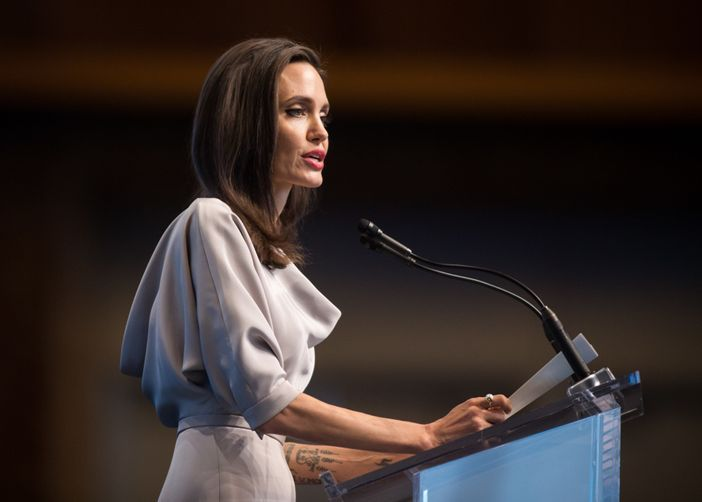 Angelina Jolie has given a speech at the United Nations about sexual harassment in Hollywood