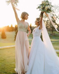 See Taylor Swift as maid of honour for her childhood best friend