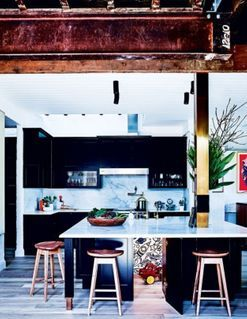 Inside The Block producer's kitchen, designed by Darren Palmer
