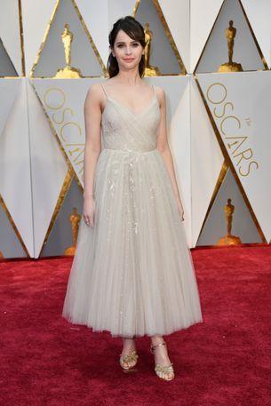 Oscars 2017: Felicity Jones is wearing Dior