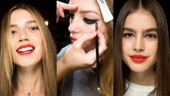 Watch: how to do red lips and winged eyeliner