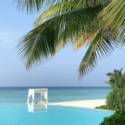 Inside the modern Maldives resort where celebrities ring in the New Year