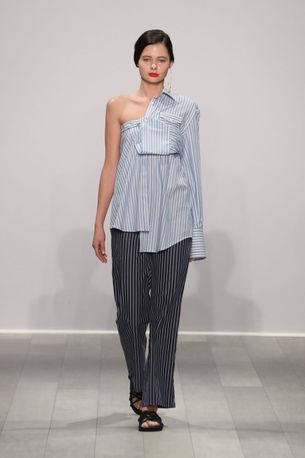 When we thought we knew all the ways to wear shirting, Anna Quan shows us more