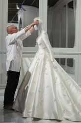 Miranda Kerr's Dior wedding dress just landed at the National Gallery of Victoria