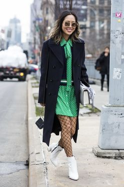 Stock up: 17 times fishnet stockings caught our eye at fashion week