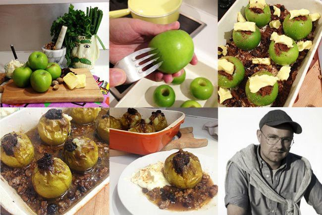 Geoffrey J Finch from Antipodium's baked apple recipe