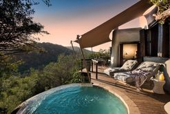 Inside a luxury safari lodge nestled in the hills of South Africa