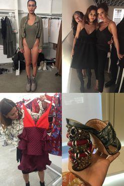 Christine Centenera's fashion week photo diary