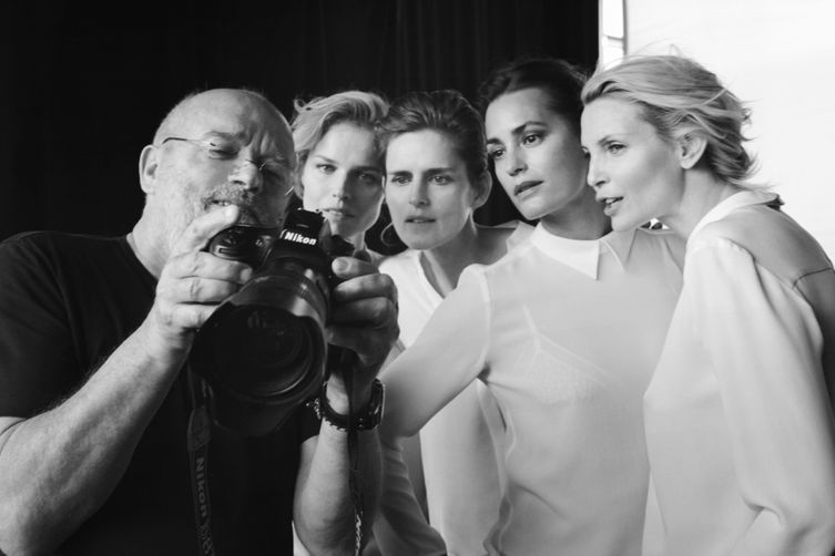 Giorgio Armani does norm core with iconic models
