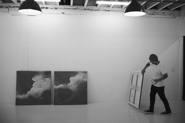 Watch: artist Brooklyn Whelan brings his cloud-scapes to life