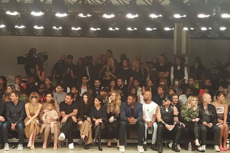 Kendall Jenner sat second row at brother-in-law Kanye West's fashion week show