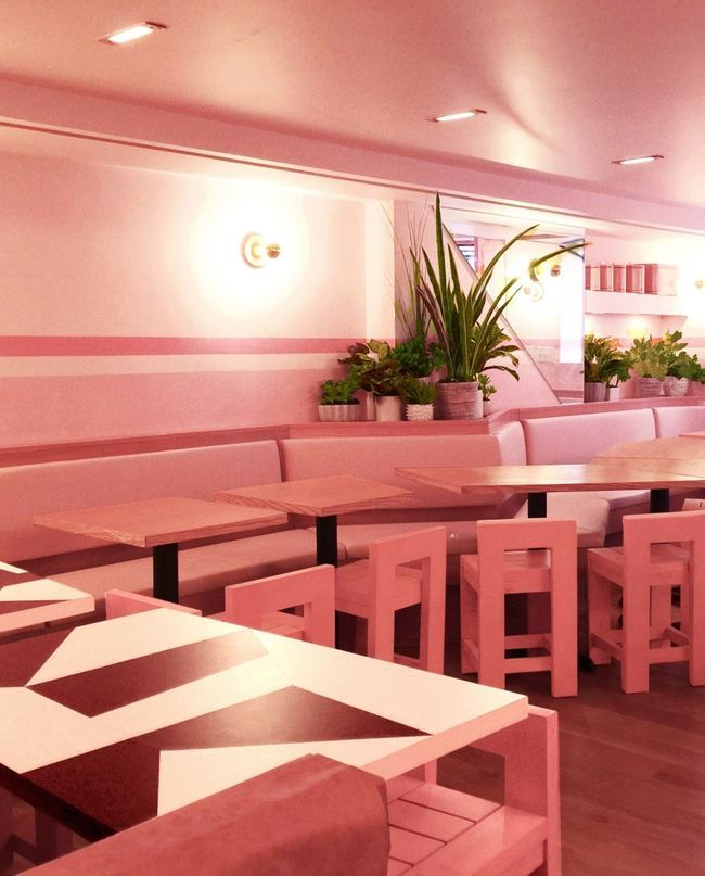Living Room W Hotel Nyc: Look Inside An Entirely Pink Restaurant In New York City