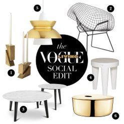 The Social Edit: marble, brass and black