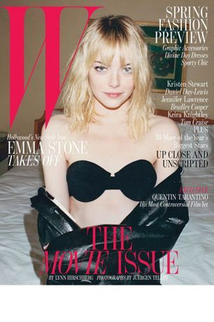 Emma Stone on W magazine