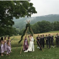 Supermodel Hanne Gaby Odiele ties the knot in the New York countryside